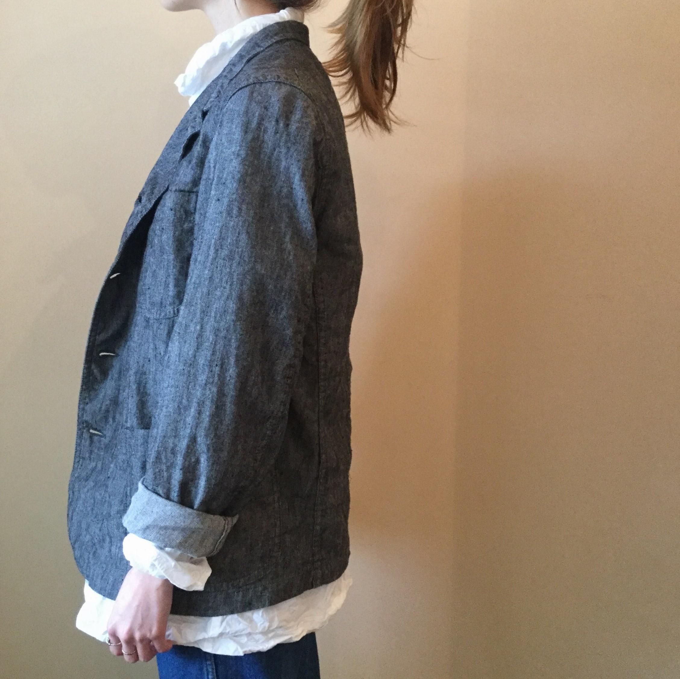 春夏OUTIL(ウティ)のフランス産コットンリネンを使用したエアエイジおすすめのジャケットです