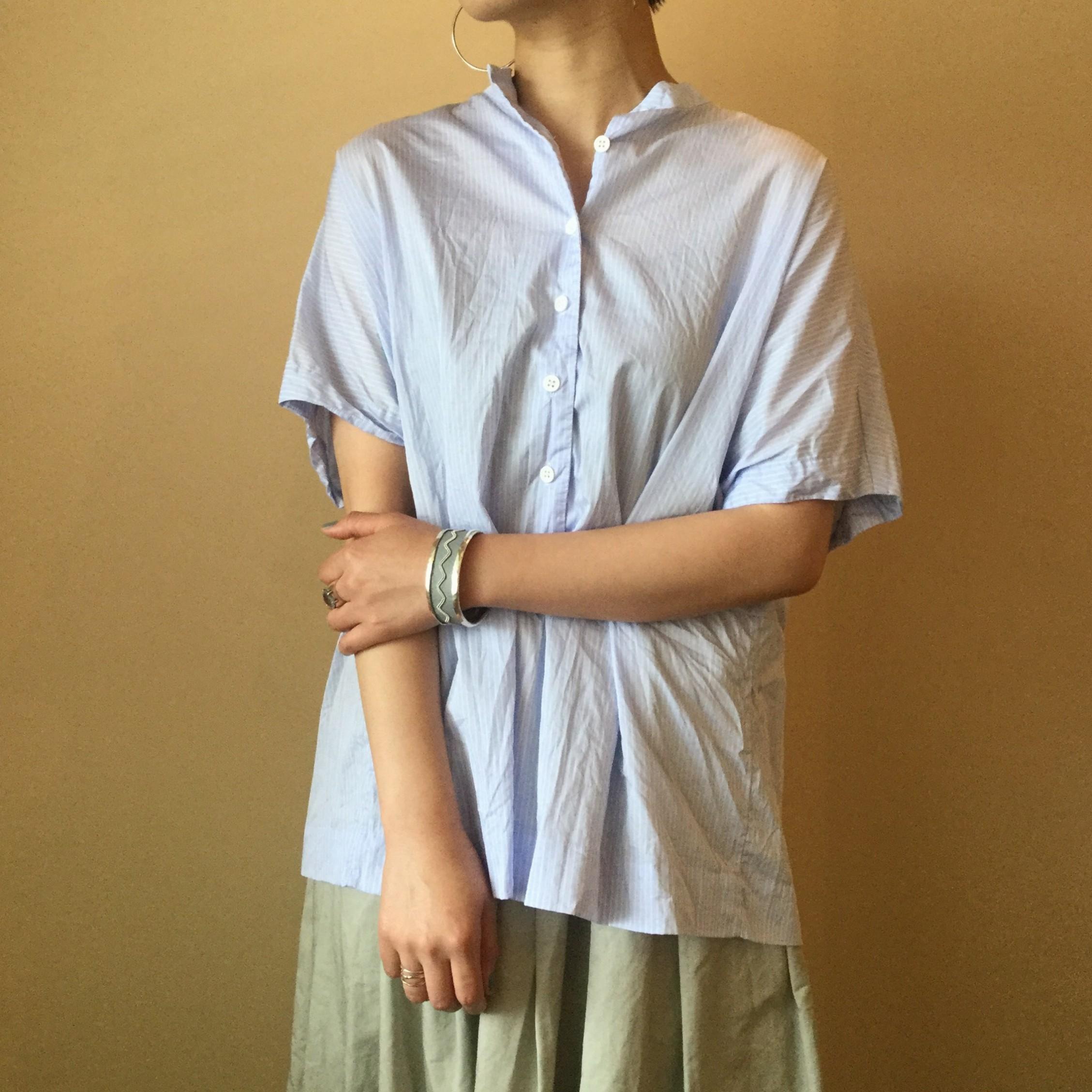 春夏caseycasey(ケーシーケーシー)のエアエイジおすすめのストライププルオーバーシャツです